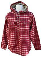 NEW Vintage NIKE 6.0 Mens Skateboarding Hooded Lined Over Shirt Red M