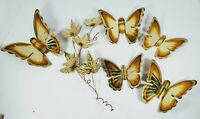 Home Interiors Gold Metal Butterflies with Gold Metal Branch, Home Decorations.
