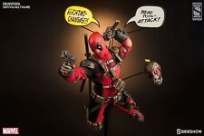 SIDESHOW EXCLUSIVE New!! DEADPOOL 1/6 SCALE COLLECTOR FIGURE Marvel Bust Figure