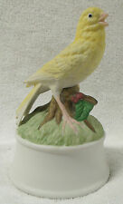 """Vintage Collectibles-Canary Music Box-6"""" Tall-Very Nice-Great Patina!"""