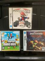 Super Mario And Kart Nintendo Ds Bundle + Metroid Ds