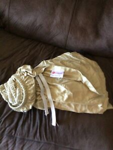 Queen size beige bed ruffle 100% cotton (higher thread count)