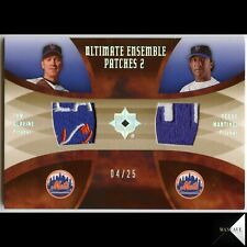 2007 Ultimate Collection Tom Glavine & Pedro Martinez Dual Logo Patch #/25 Mets