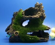 Decaying trunk Aquarium decoration resine drift wood with artificial Moss on