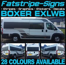 PEUGEOT BOXER L4 EXLWB MOTORHOME GRAPHICS STICKERS DECALS STRIPES CAMPER VAN