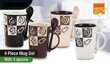 8 Piece Ceramic Deluxe 12oz. Coffee/Tea Mug Set - Piping Hot