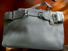 Damen Handtasche hellblau Leder gebraucht Kurzgrifftasche