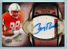 JERRY RICE 2013 QUANTUM SIGNATURE 3 COLOR PATCH AUTOGRAPH AUTO /30