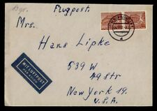 DR WHO 1951 GERMANY BERLIN AIRMAIL TO USA PAIR  g42312