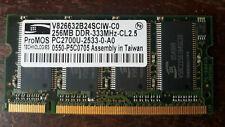 ProMos 256MB PC2700U DDR 333Mhz Laptop Memory
