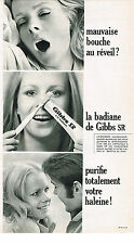 PUBLICITE  1968   GIBBS SR  dentifrice