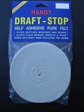 NEW DRAFT STOP Adhesive Felt Stopper Perfert for Stopping Rattlin Door Window