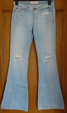 Abercrombie & Fitch destruido Acampanado Jeans Nuevo Talla 0