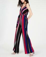 MSRP $90 I.n.c. Sleeveless Surplice Striped Jumpsuit, Size XS
