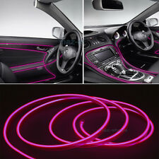 2M 12V EL Wire Nice Pink Cold light Neon Lamp Atmosphere Unique Decor For Ford