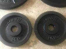 🔥 Pair of Steel Olympic Weight Plates 25lb🔥🔥50lb total🔥🔥FLAT RATE SHIPPING