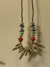 31 Bits Necklace Jewelry Gold Turquoise Coral Blue Petite Spike