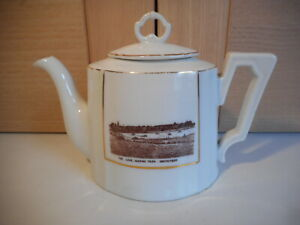 KPM ROYAL PORCELAIN FACTORY BERLIN THE LAKE MARINE PARK SOUTHPORT SMALL TEAPOT