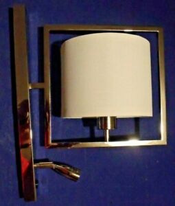 Heathfield Conniston Nickel Wall Light  With Led - 40cm Total Height -