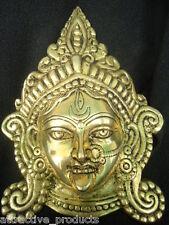 INDIAN ANTIQUE 100% SOLID BRASS STATUE HINDU GODDESS KALI DURGA WALL HANGING