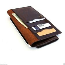genuine vintage leather case for iphone SE 5 5s 5c book cards wallet cover thin