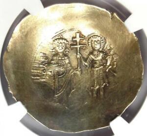 Byzantine John II EL Aspron Trachy (Christ Coin) 1118-1143 AD - NGC MS (UNC)