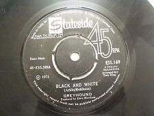 """GREYHOUND black & white/sand in shoes RARE SINGLE 7"""" 45 1971 INDIA INDIAN VG-"""