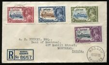 Bahamas 1935 KGV Jubilee set on registered cover