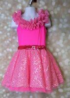 A Wish Come True Candy Pink Dance Costume Halloween MC Medium Child