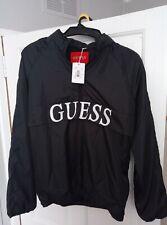 Guess Black Logo Rain Jacket UK Medium