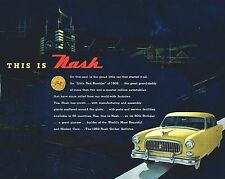 1952 Nash GOLDEN AIRFLYTE  50th Anniv. Brochure: AMBASSADOR,STATESMAN,RAMBLER,