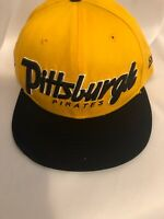 New Era SpellOut  Pittsburg Pirates Baseball Cap Hat  9Fifty Mustard SnapBack