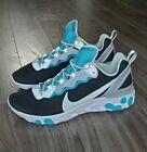 New Nike React Element 55 SE Men's Running Shoes BV1507 001 Wolf Grey Black Sz9