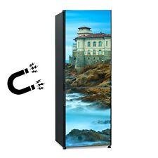 Kühlschrankmagnet Tür Aufkleber Wahrzeichen Burg Boccale auf Felsen und Meer