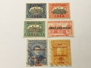 old stamps  DOMINICANA   x  6 optd