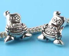 Minion Charm - Silver Tone - Suits Pandora Charm Bracelets - Despicable Me