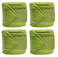 Set Of 4 LIME GREEN Fleece Polo/Leg Wraps ! NEW HORSE TACK!
