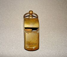 WWII Officers Brass Military Whistle with Ring