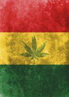 2 x Rasta Weed Jamaica Vinyl Sticker Laptop Travel Luggage #4758