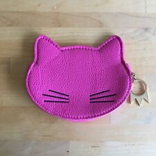 Urban Outfitters Faux Leather Hot Pink Cat Coin Purse Wallet Paw Zip Kitty