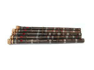 KOREAN TRADITIONAL BLACK BAMBOO FLUTE 'SOGUM' ROOT ENDED BLACK BAMBOO FLUTE 1PCS