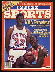 Patrick Ewing Signed Inside Sports Mag Nov1985 Knick Auto Michael Jordan HOF JSA