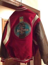 Rare Custom Made Arizona Beverage Co USA Varsity Wool Leather Bomber Jacket Sz M