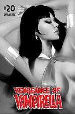 VENGEANCE OF VAMPIRELLA #20 OLIVER 1:30 B&W VARIANT 2021 DYNAMITE 7/21/21 NM