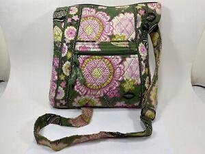 Vera Bradly Floral Crossbody Purse Medium Zip
