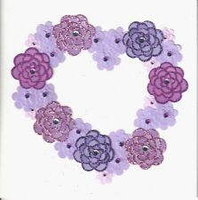 Papyrus Mothers Day Card Nip (Msrp $6.95) Purple Flowers Heart Card (P23)
