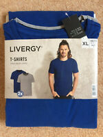 Mens T Shirts 2 Pack 1x blue,1x grey ,Pure Cotton very high quality XL 46/48 new
