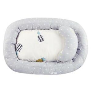 Portable Baby Nest Bed Crib Removable Washable Protect Cushion with Pillow #gib
