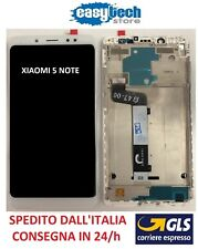Touch Screen  LCD Display ORIGINALE con Frame Per XiaoMi Redmi 5 NOTE Bianco