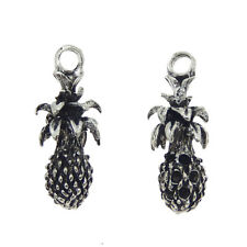 Pack of 15 Vintage Silver Pineapple Look Metal Charms Pendants 23x9 MM DIY